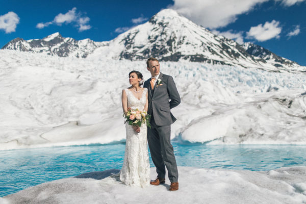 Alaska Destination Wedding at Paradise Alaska and Knik Glacier - Kathryn & Thomas