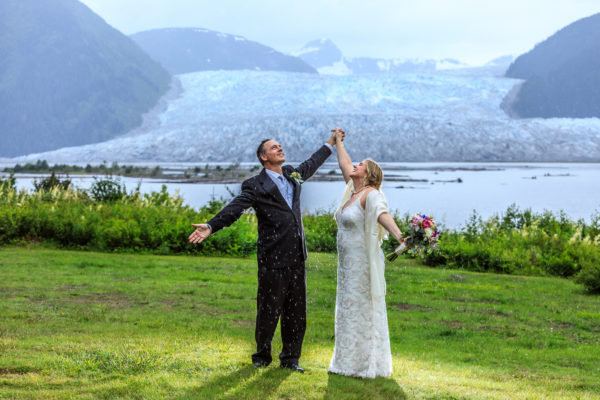 Alaska Destination Wedding via Floatplane at Taku Lodge in Juneau - Julie & HJ