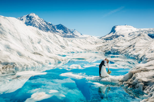 Alaska Destination Wedding at Knik River Lodge and Knik Glacier - Jodie & Alex