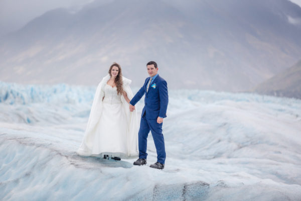Alaska Destination Wedding: Alicia & Timothy at the Knik Glacier